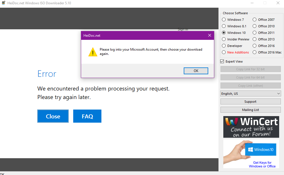 i cannot download windows 10 oem version please help - Windows ISO