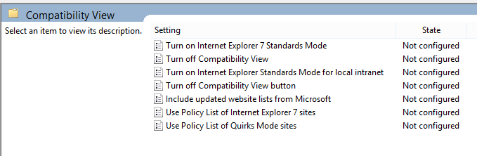 ie 11 compatibility view