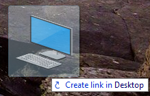 create shortcut icons on desktop