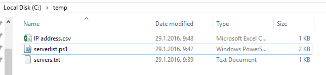 server list script
