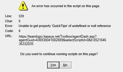 script error prompts