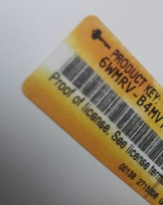 Counterfeit Product Key Sticker