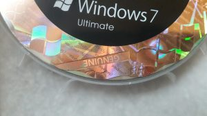 Counterfeit Windows 7 DVD with Hologram