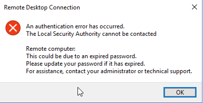 passwords through RDP