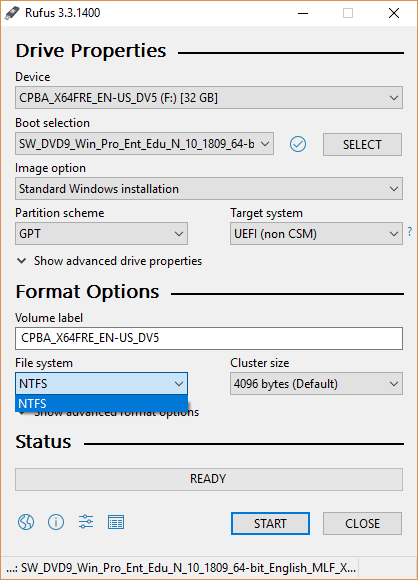 uefi boot windows 10 ntfs
