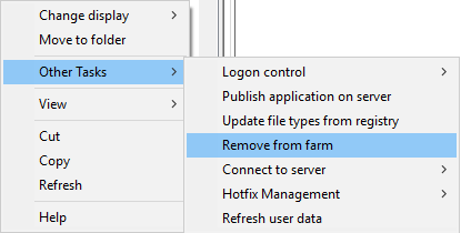 change Citrix Xenapp v6.5 farm server