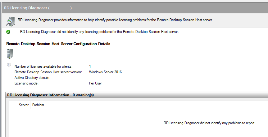 Licenses are not available for this Remote Desktop Session