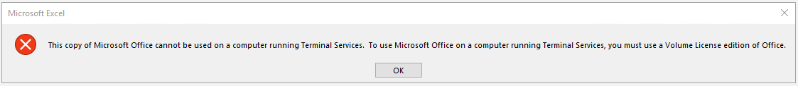 This copy of Microsoft Office