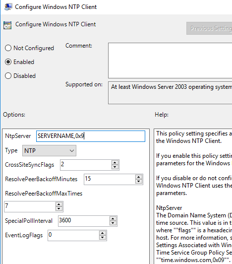 How to configure time source (NTP server) for a PDC - WinCert