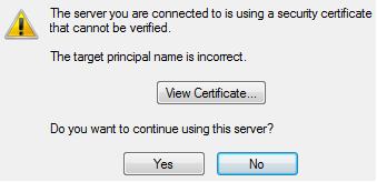 The target principal name is incorrect