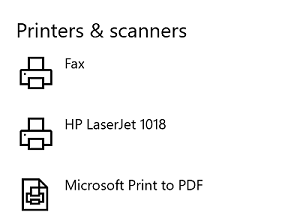 LaserJet 1018 on Windows 10