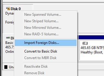 Missing disk in Windows Explorer