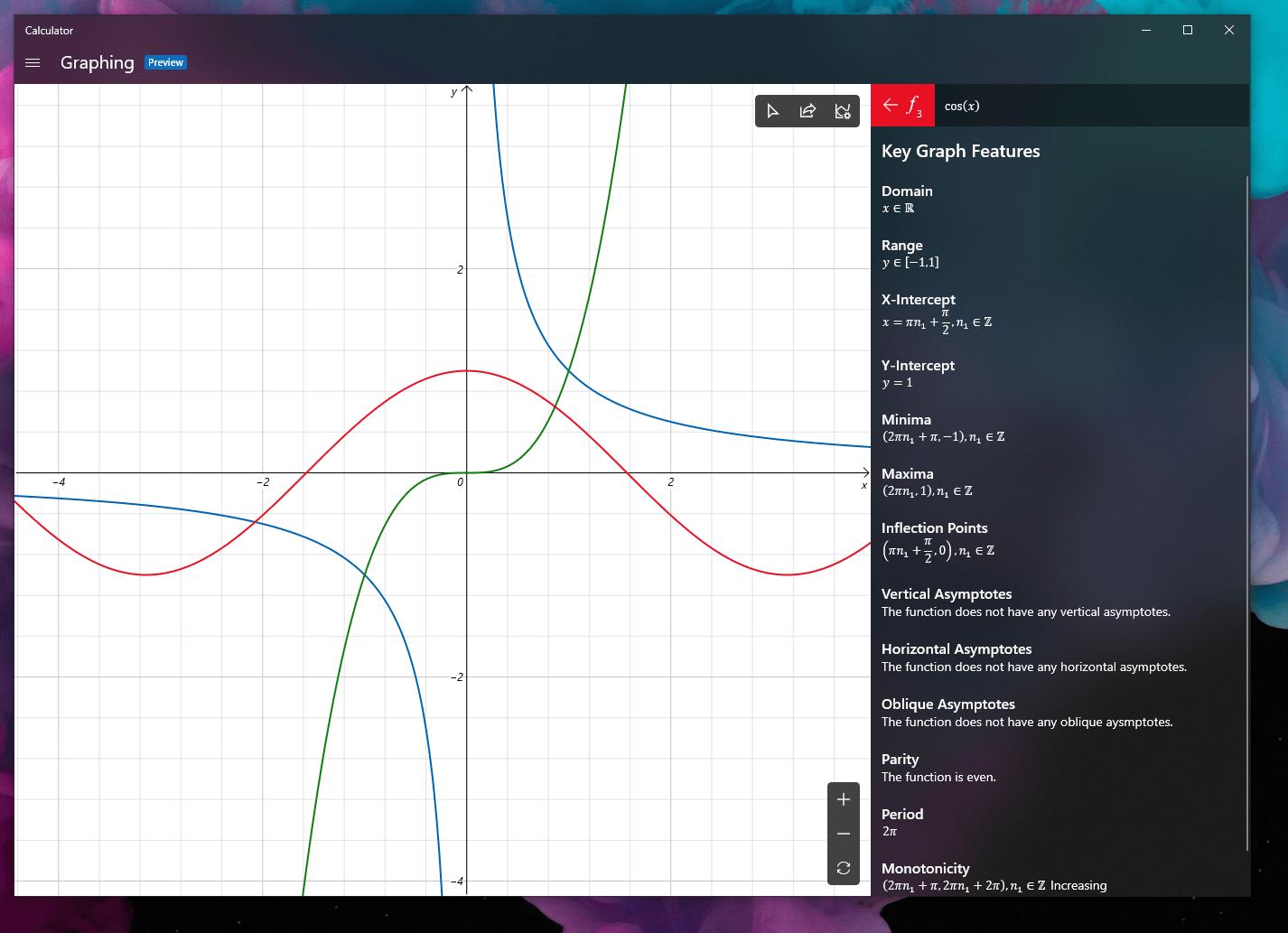Windows Calculator graphic mode