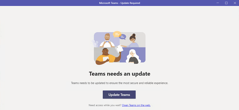 Teams needs an update issue