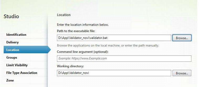 publish the .jar file on Xenapp